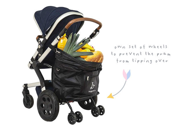 BuggyCart, the extra storage solution for prams