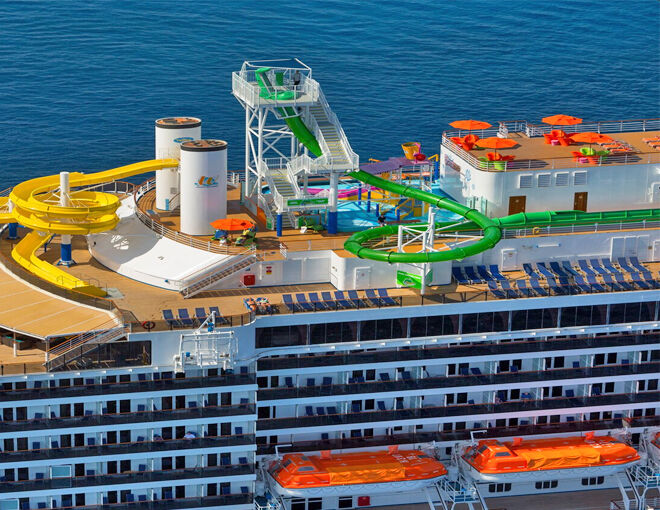 Carnival Legend Waterslides