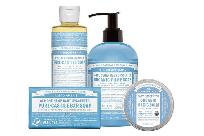Dr Bronner's organic baby products