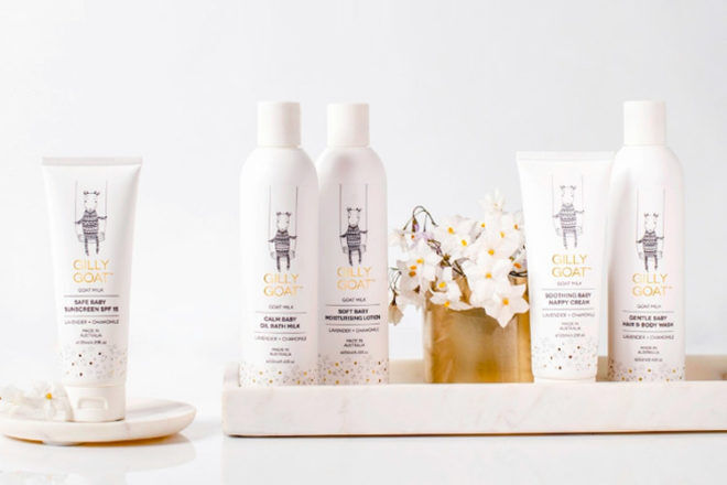 Gilly Goat, natural baby skincare
