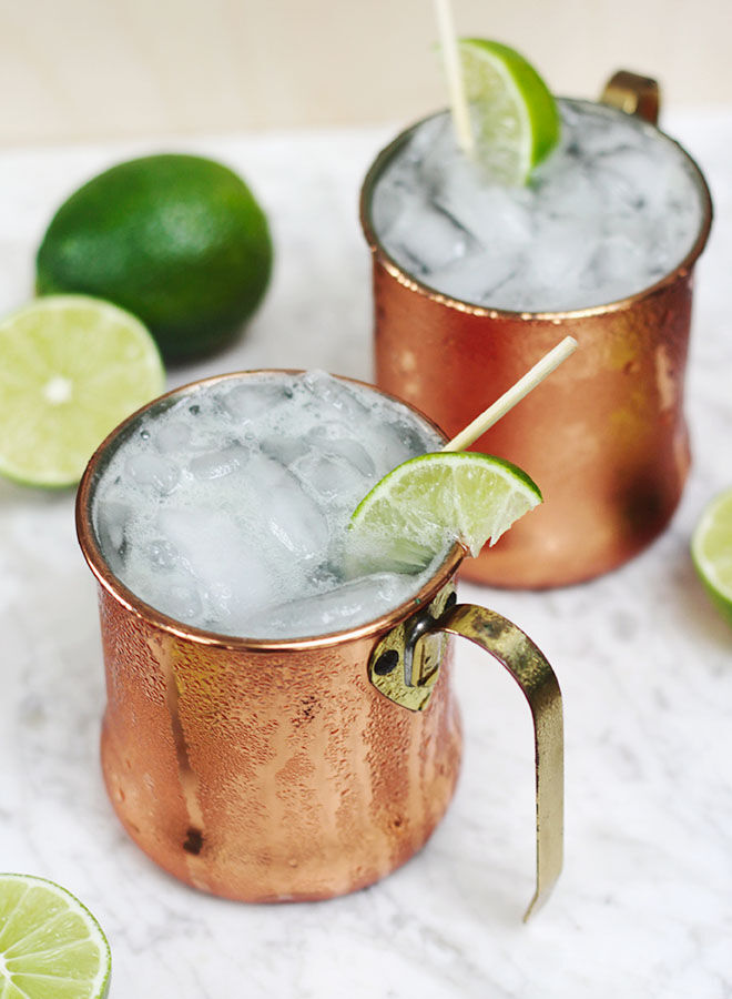 Moscow mule mocktail for New Years