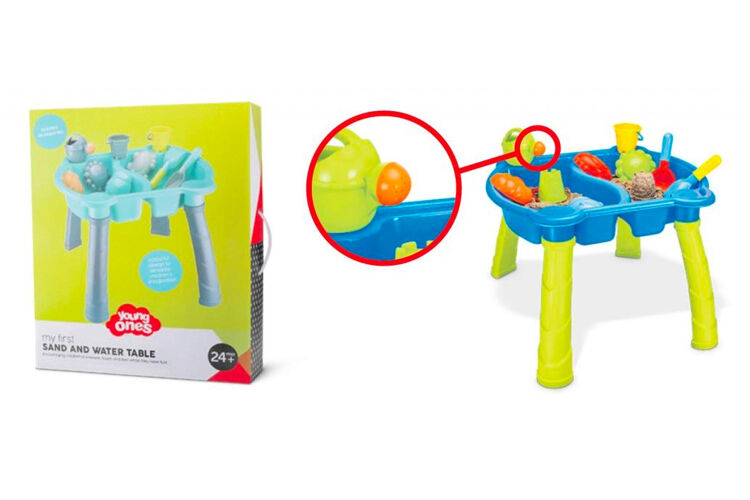 Sand and Water Table choking hazard