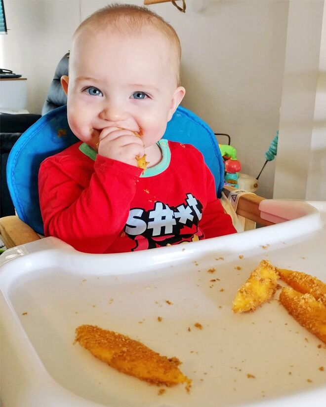 Help with slippery finger foods for baby