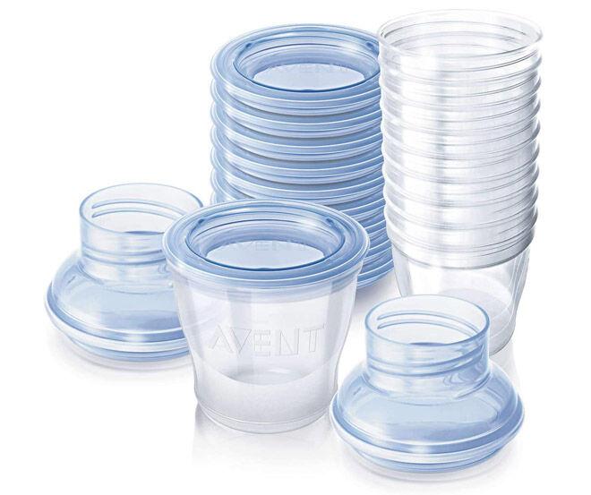 Breastmilk storage cups