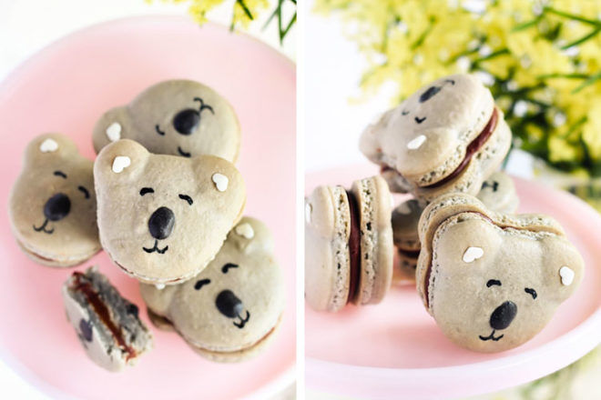 Caramel Koala Macaron recipe