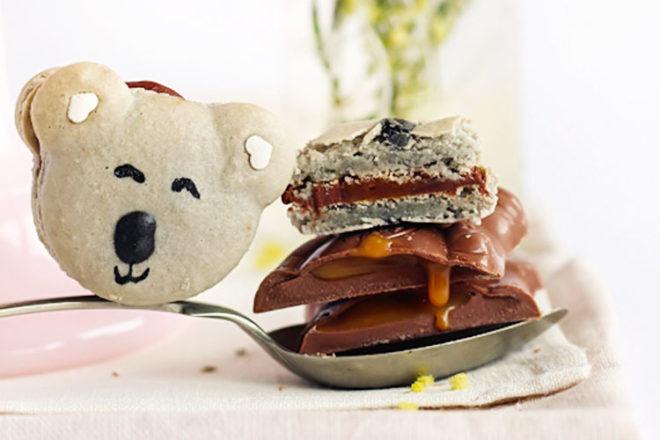Recipe for caramel koala macarons via Raspberri Cupcakes   Mum's Grapevine