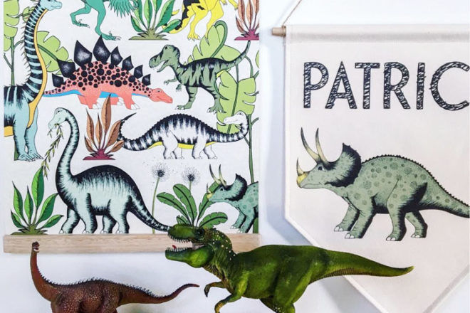 Dino Raw, hand illustrated prints and posters for kids