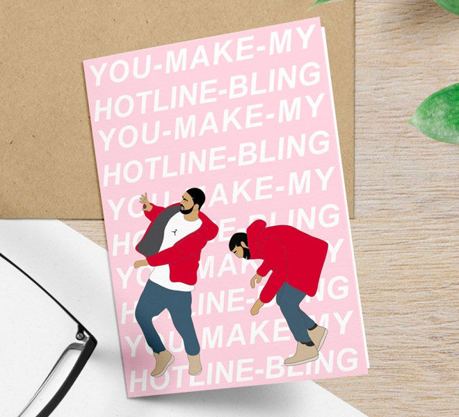 Funny Drake Valentine's Day Card by Greet Yoself