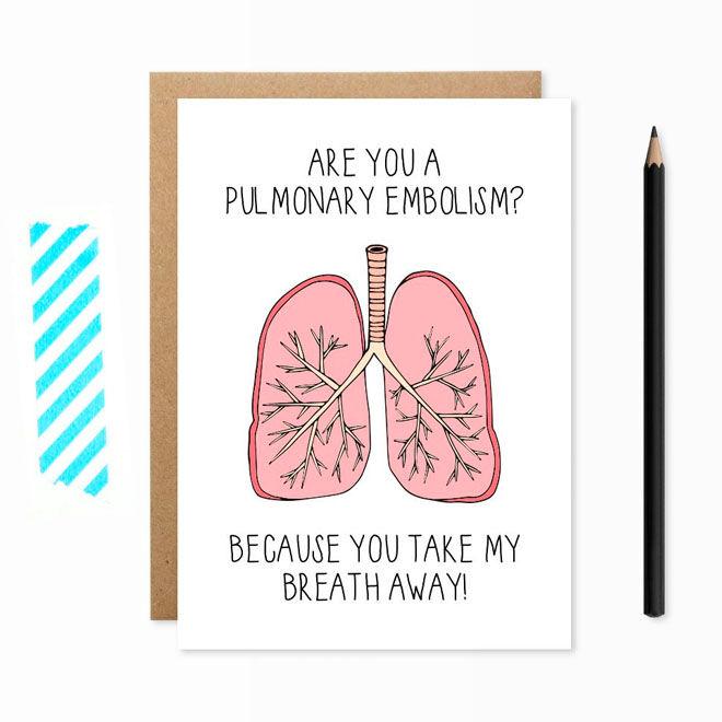 Take My Breath Away Valentine's Day Card by Lochness Studio