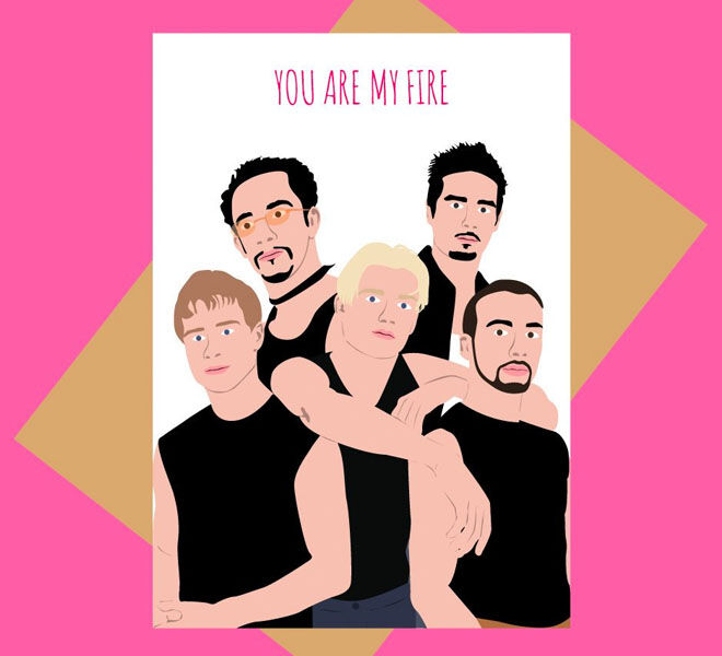 Backstreet Boys Valentine's Day Cards by Meet Me In Shermer