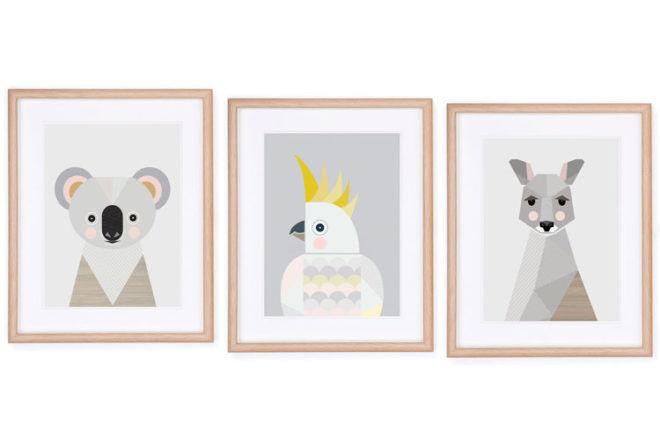 Native Australian animals print by Little Design Haus