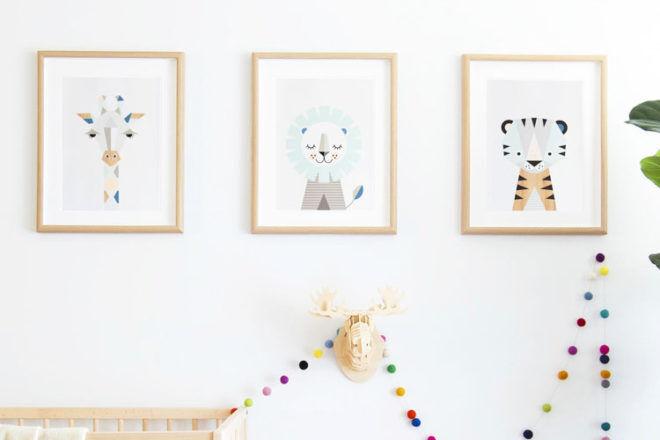 Scandi style nursery prints by Little Design Haus