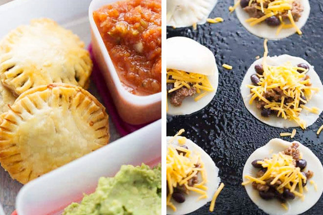 Lunch box taco hand pies