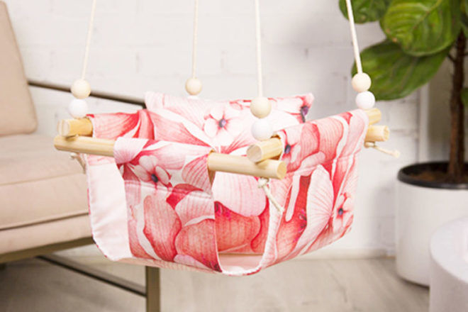 Mini.Mase baby swing pink blossom