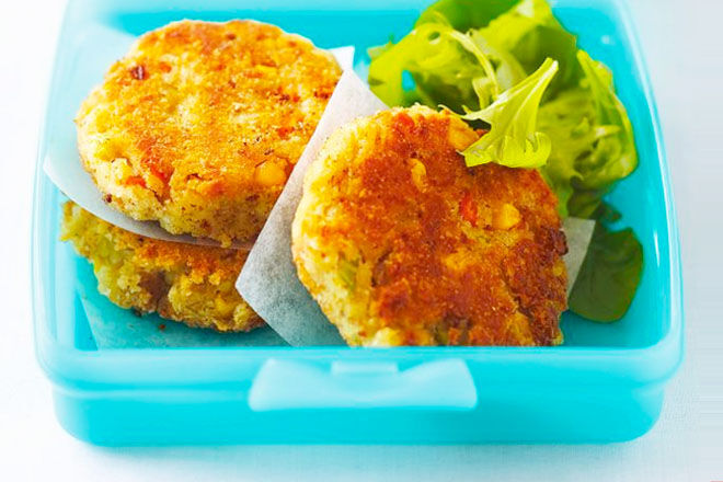 Potato, corn and tuna patties