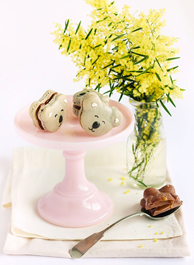 Recipe for caramel koala macarons