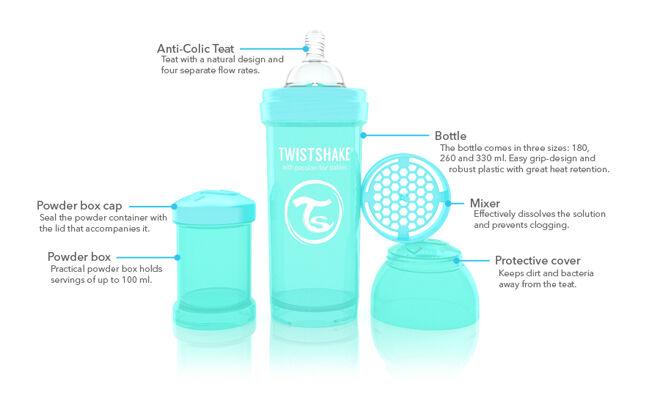 Twistshake Baby bottle features