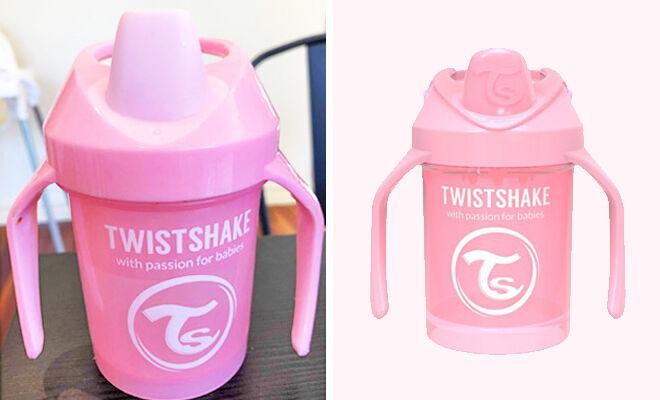 Twistshake mini cup pink