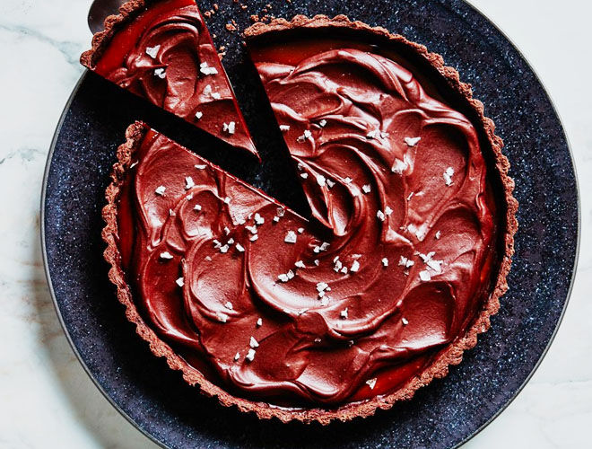 Salted caramel chocolate tart recipe