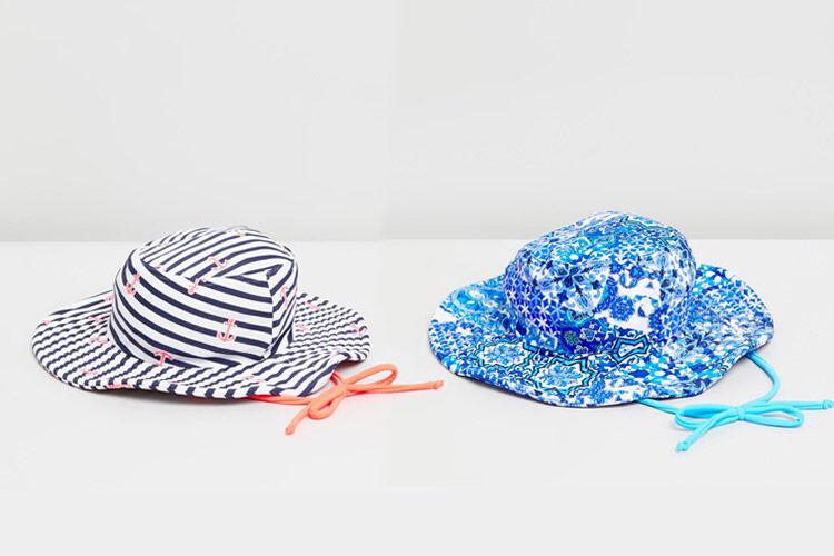 aqua blu kids hat
