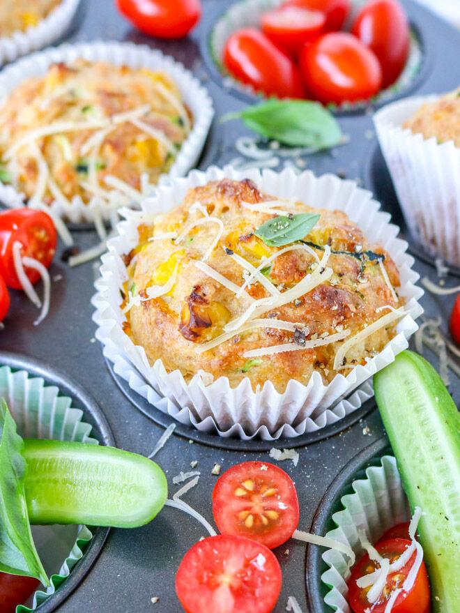 lunchbox recipe savoury muffins
