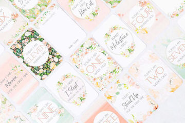Belle & Grace floral pregnancy cards