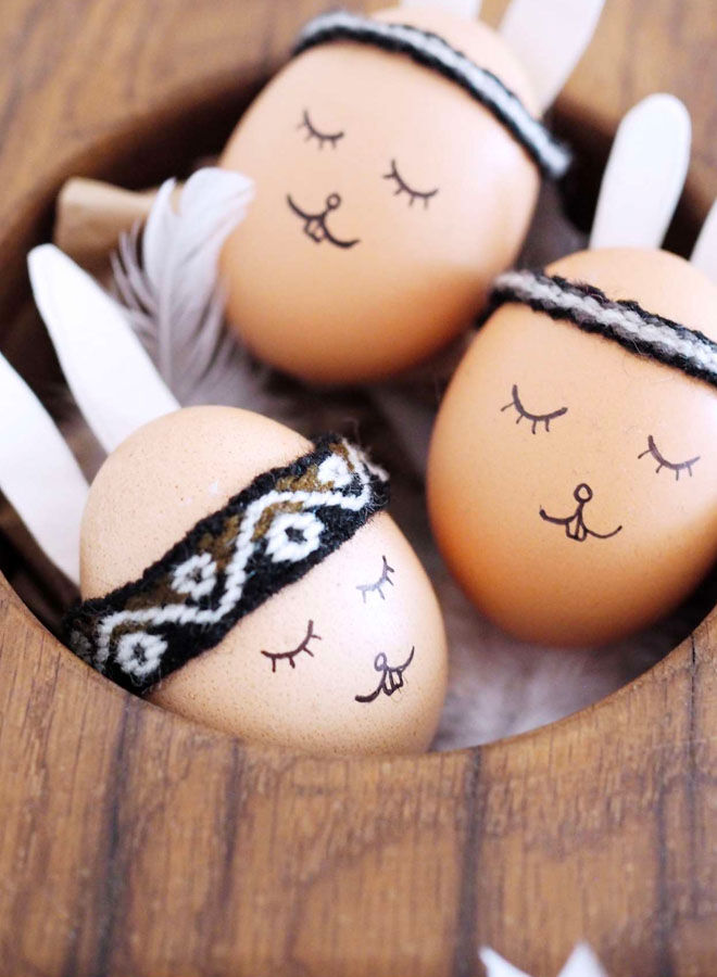 Boho Easter egg decorating idea