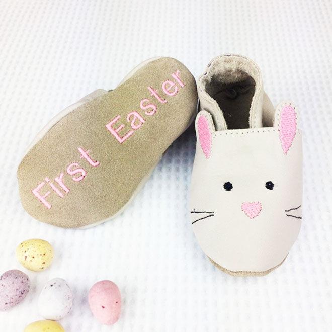Personalised rabbit baby shoes, Born Bespoke