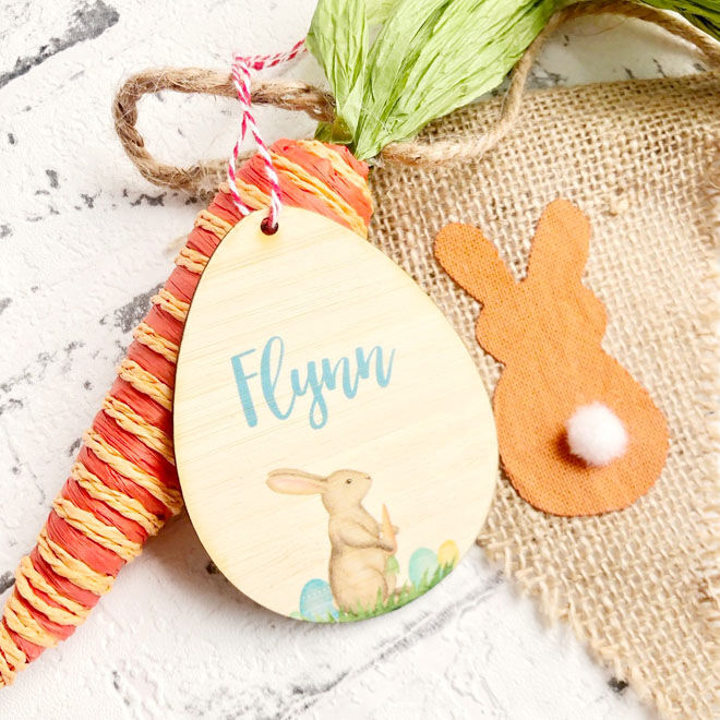 Personalised Easter gift tag, Creating Monkies Gifts