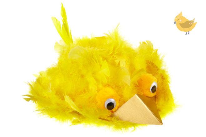 Feather Chick Easter Bonnet Idea