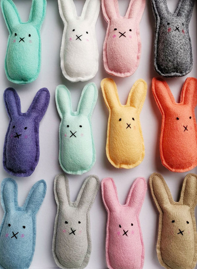 Mini felt bunny rattles, Hello Little Life