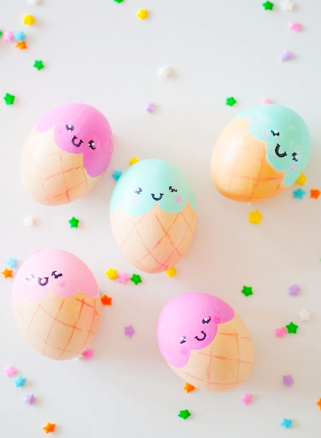 Ice cream Easter egg decorating ideas