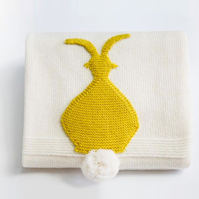 Bunny tail blanket, Little Baby Bowtique