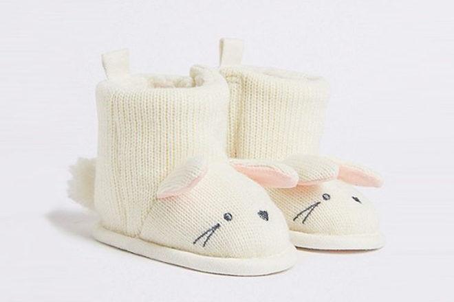 Baby bunny pram booties, Marks & Spencer