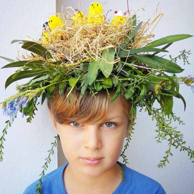 Nature Easter Bonnet Idea