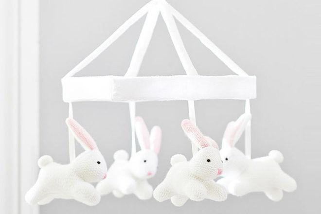 Bunny Knit Cot Mobile, Pottery Barn Kids