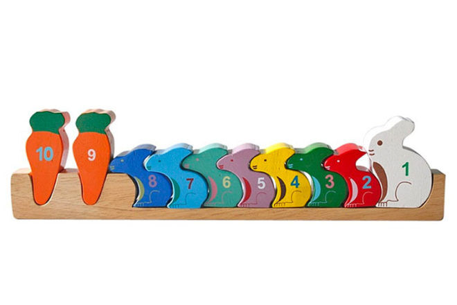 Counting Rabbits wooden toy, QToys