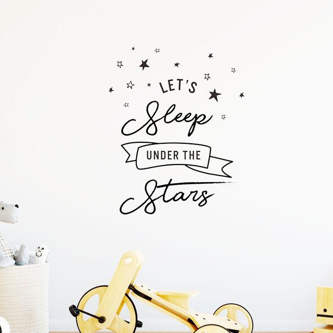 Nursery Wall Stickers, lets sleep under the stars