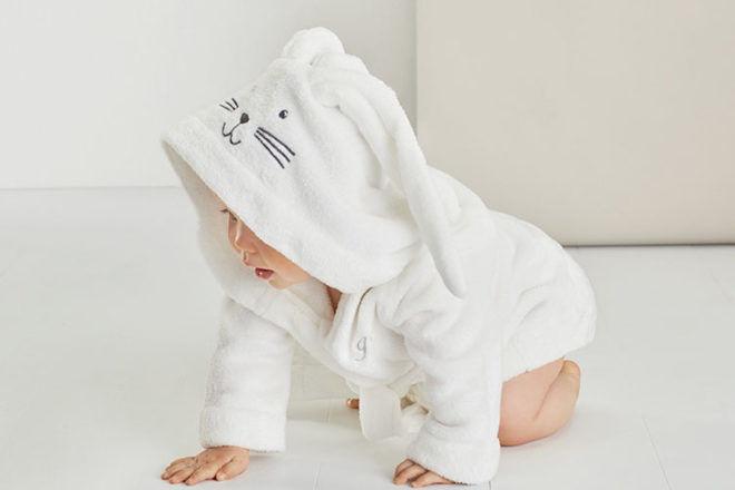Bunnie hooded baby bath robe, Sheridan