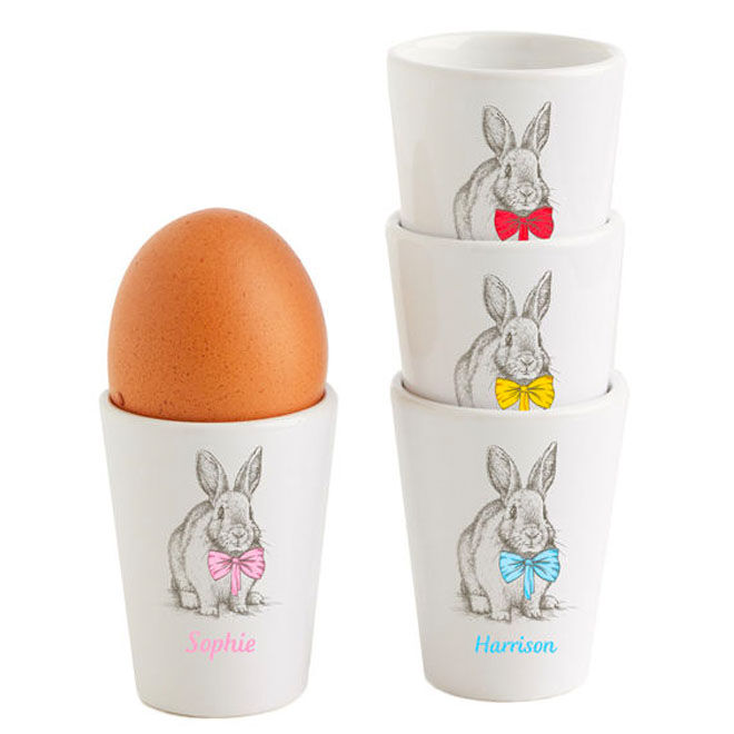 Personalised egg cups for Easter, Stuck On You
