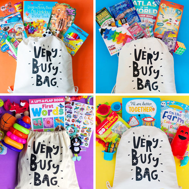 Very Busy Bag, busy bags with age-appropriate activities