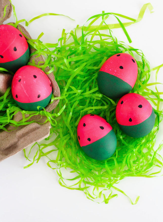Watermelon easter egg DIY