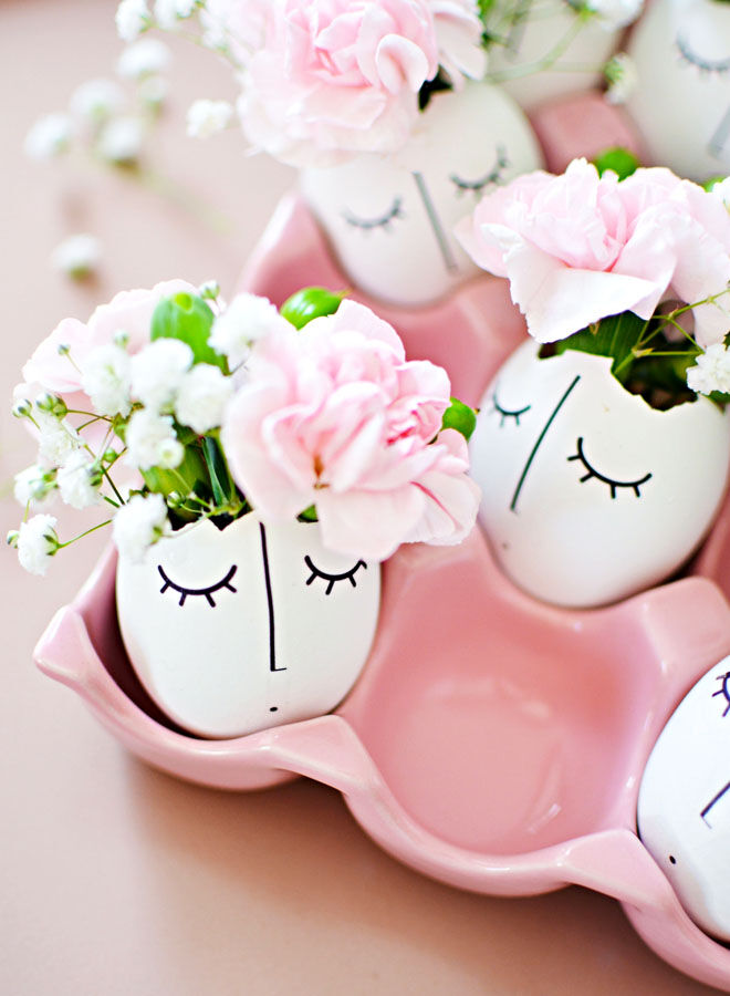 Whimsy Easter egg decorating idea