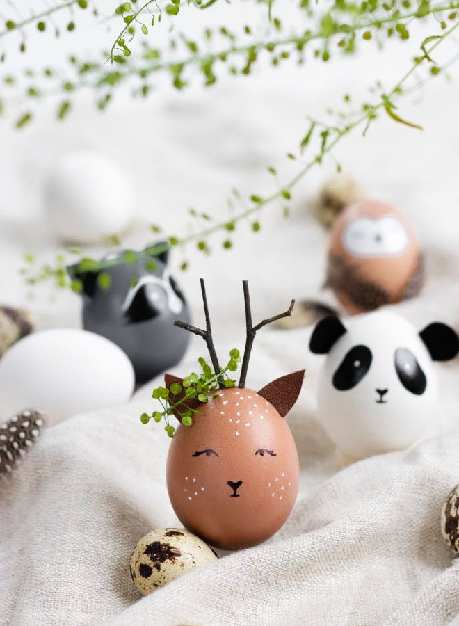 Wildlife Easter egg decorating idea
