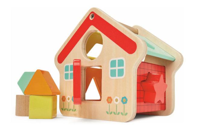 Kmart wooden house shape sorter