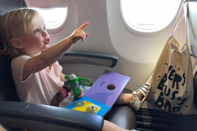 Very Busy Bag, ideal for entertaining children while travelling | Mum's Grapevine