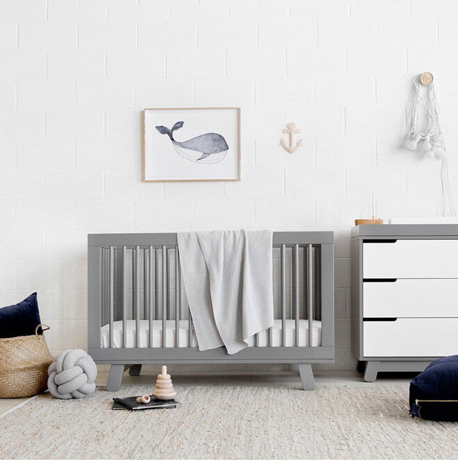 Babyletto Grey Hudson Cot