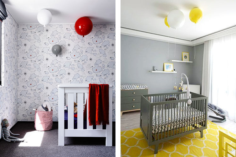 Balloon pendant light for nursery
