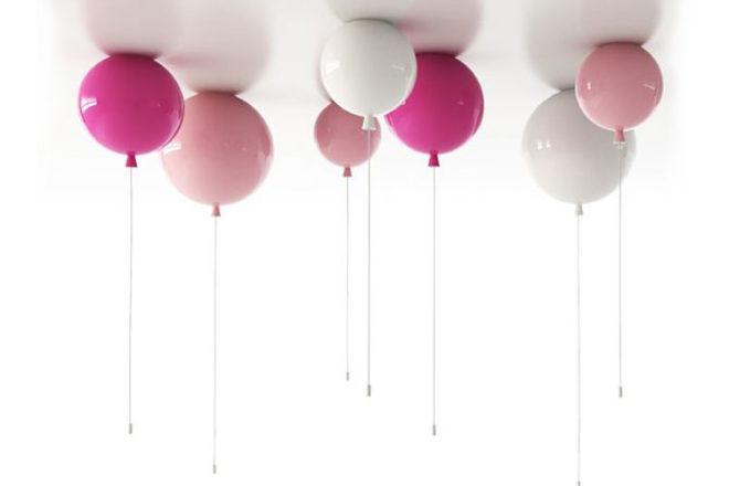 Pink balloon pendant lights