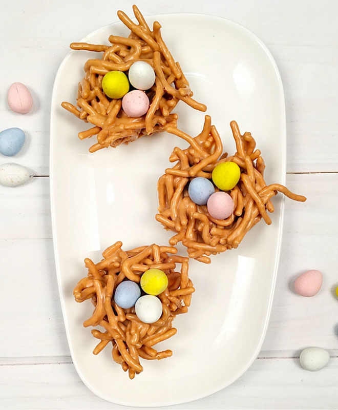 Butterscotch haystacks for Easter